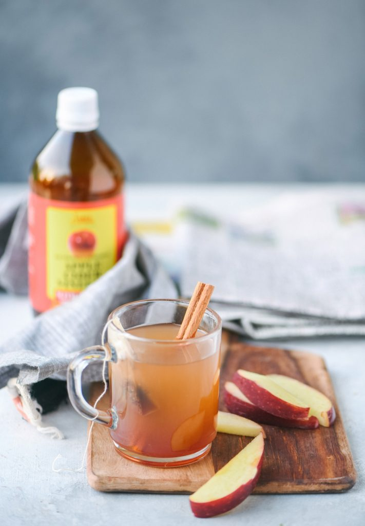 Apple Cider Vinegar tea to cleanse your body every morning. You can get your bottle of this elixir from Think Organic.