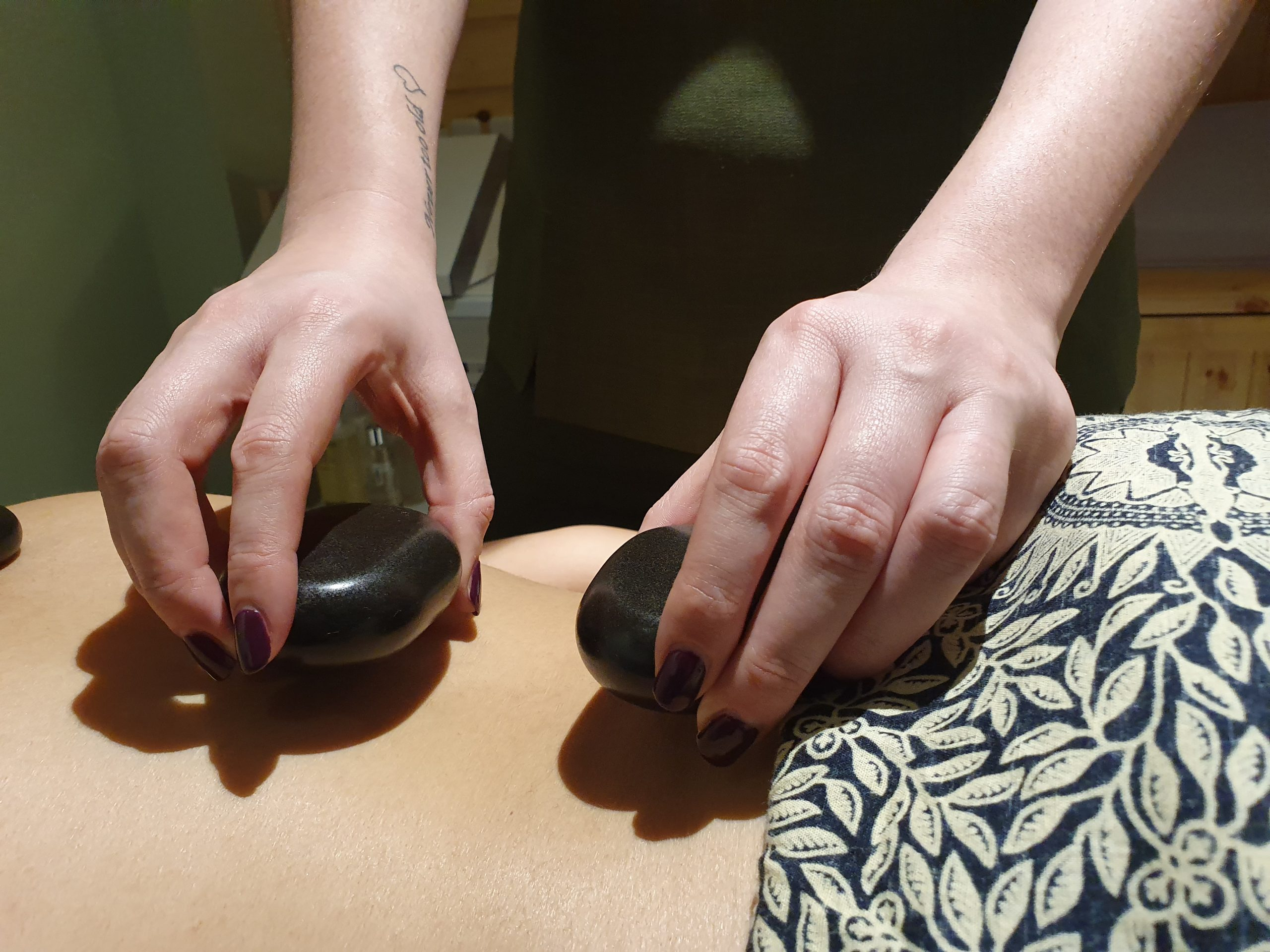 Hot Stone Massage at the Sleeping Beauty Spa