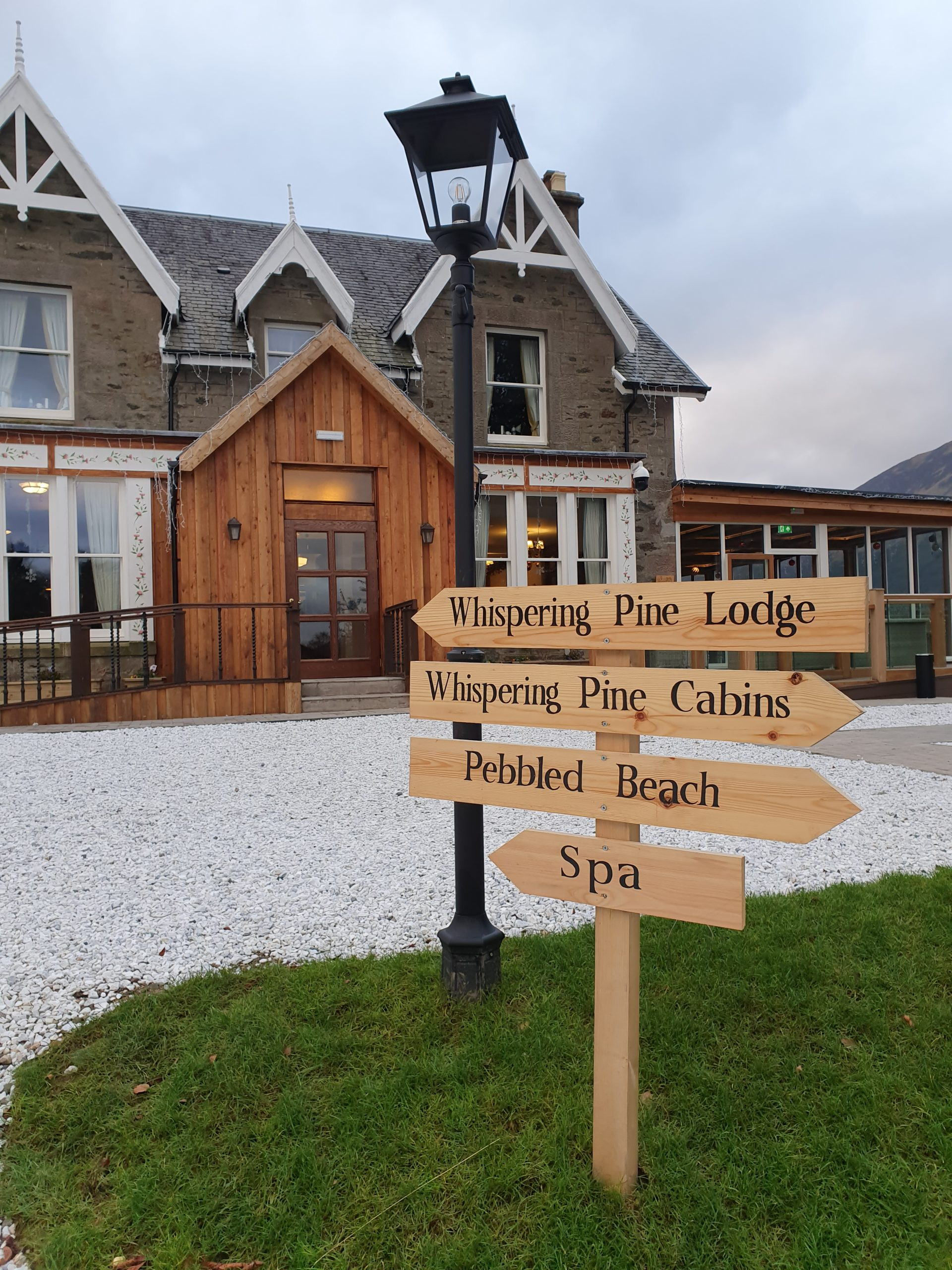 Whispering Pine Lodge near Fort William, Scotland