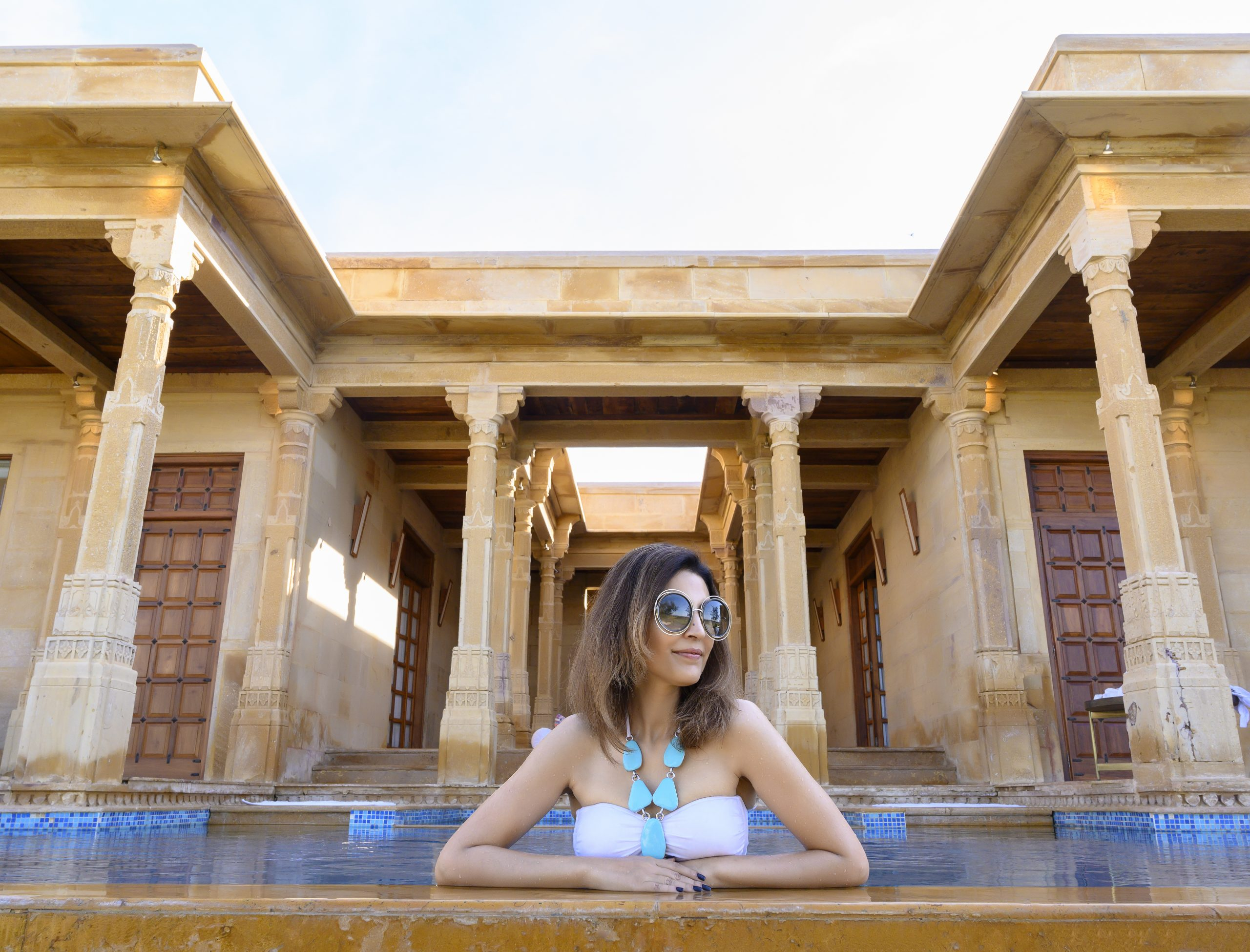 Plunge pool at the private residences of Suryagarh.